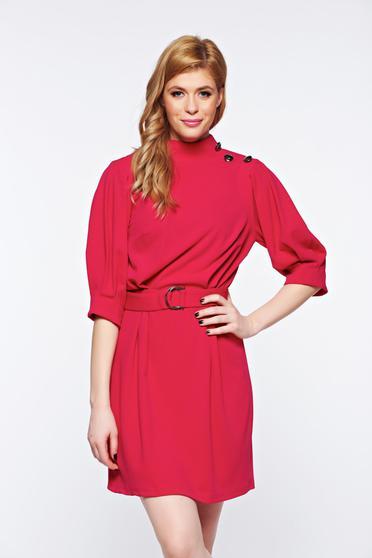 Pink Artista elegáns ruha övvel ellátva rugalmas anyag