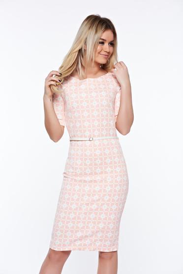 Rózsaszínű PrettyGirl irodai ceruza ruha belső béléssel enyhén rugalmas anyag