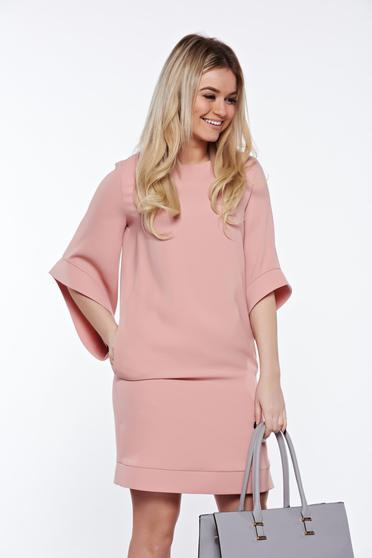 Rózsaszínű LaDonna elegáns bő szabás ruha belső béléssel zsebes