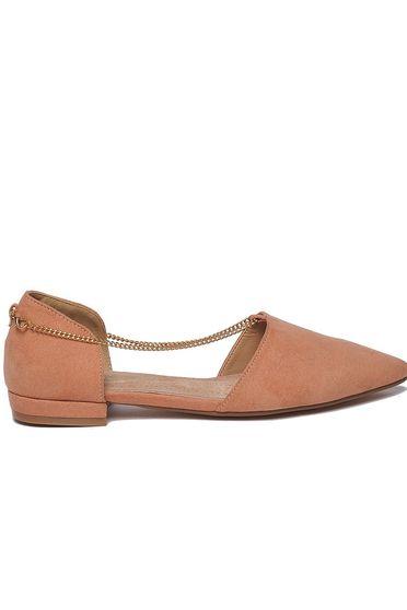 Rózsaszínű Top Secret balett cipő casual lapos talpú enyhén hegyes orral lánccal
