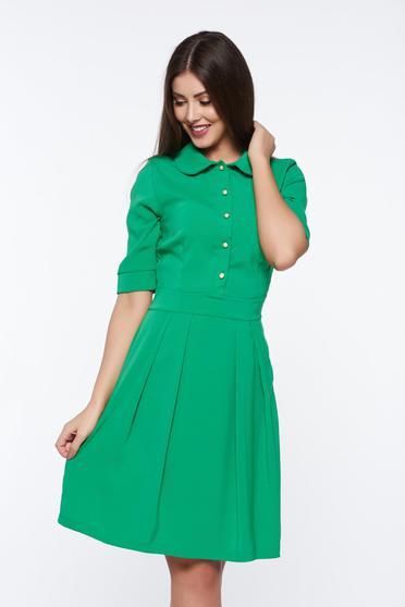 Zöld PrettyGirl irodai harang ruha enyhén rugalmas anyag kerek gallér