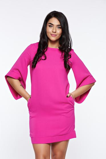Pink LaDonna elegáns bő szabás ruha belső béléssel zsebes