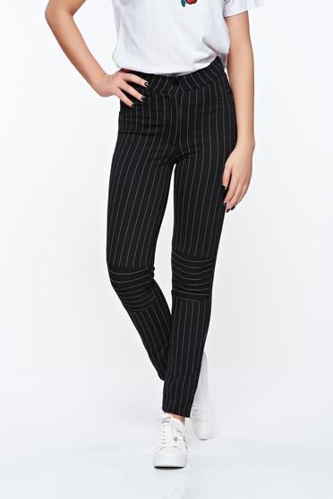 Fekete Ocassion casual nadrág rugalmas anyagból álzsebekkel