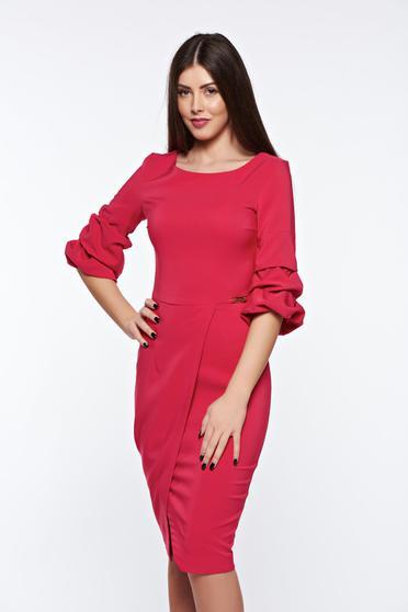 Pink LaDonna elegáns ceruza ruha enyhén elasztikus szövet átfedéses