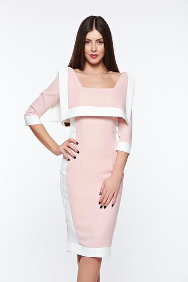 Rózsaszínű LaDonna elegáns ceruza ruha rugalmas és finom anyag