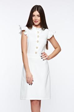 Fehér LaDonna elegáns ruha rugalmas és finom anyag belső béléssel