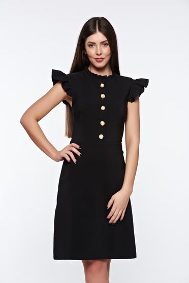 Fekete LaDonna elegáns ruha rugalmas és finom anyag belső béléssel