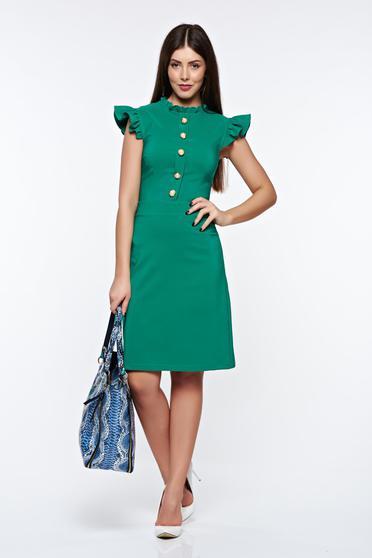 Zöld LaDonna elegáns ruha rugalmas és finom anyag belső béléssel