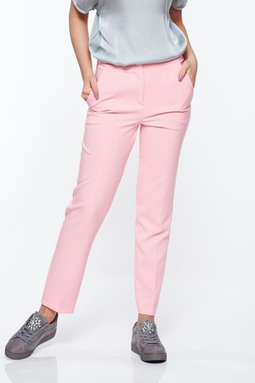 Pink Artista nadrág irodai kónikus zsebes enyhén elasztikus szövet