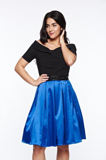Kék Artista váll nélküli alkalmi harang ruha