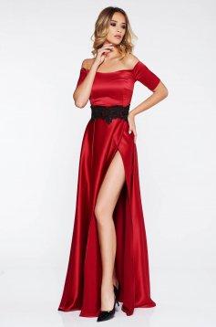 Piros Artista alkalmi harang ruha szatén anyagból csipke díszítéssel ee49d6fe5e