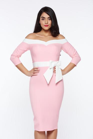 Pink Artista elegáns ceruza ruha enyhén rugalmas anyag szivacsos mellrész