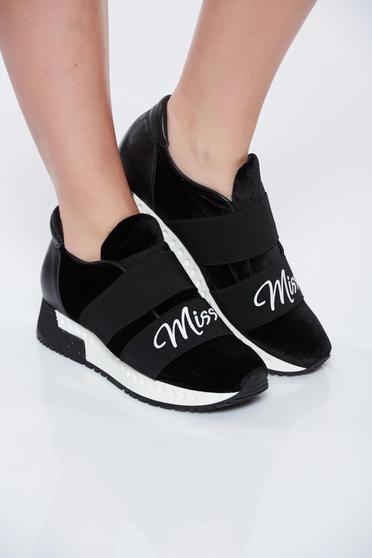 Fekete MissQ sport cipő casual a talp nagyon könnyű bársony