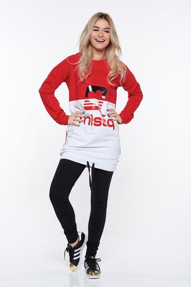 Piros MissQ sportos pamutból készült szett derékban rugalmas