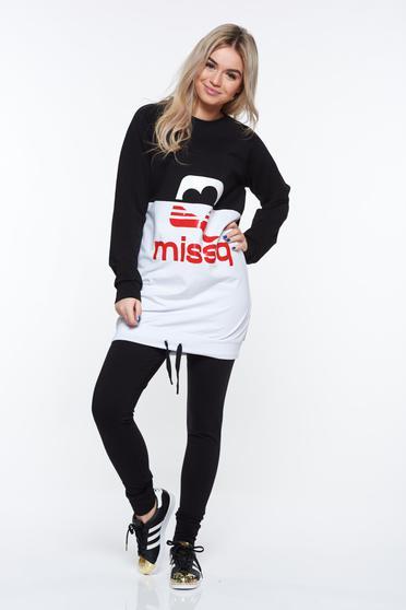 Fekete MissQ sportos pamutból készült szett derékban rugalmas