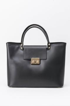 Fekete irodai táska fémes kiegészítő