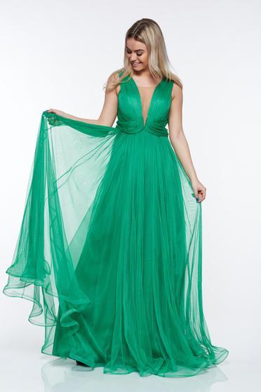 Zöld Ana Radu tüll ruha belső béléssel szivacsos mellrész