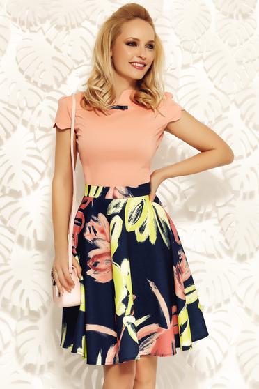 Barackvirágszínű Fofy szűk szabású irodai női ing rugalmas pamut