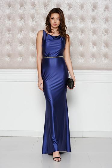 Lila StarShinerS alkalmi ruha fényes anyag rugalmas anyag szirén tipusú