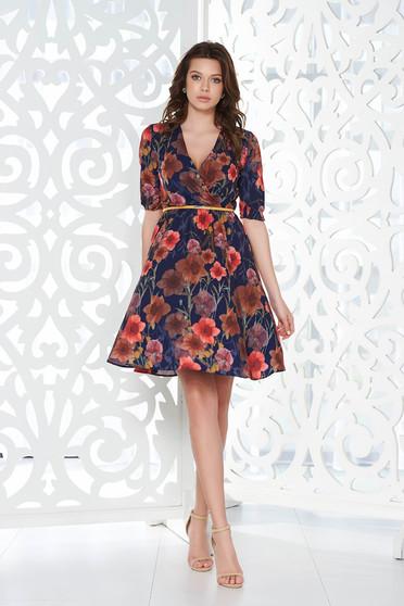 Lila StarShinerS elegáns harang ruha lenge anyagból derékban rugalmas belső béléssel