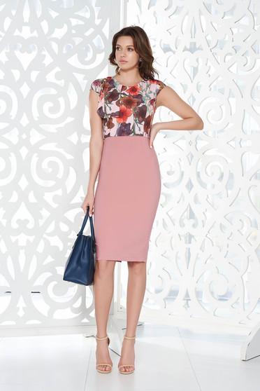 Rózsaszínű StarShinerS irodai ceruza ruha rugalmas és finom anyag belső béléssel