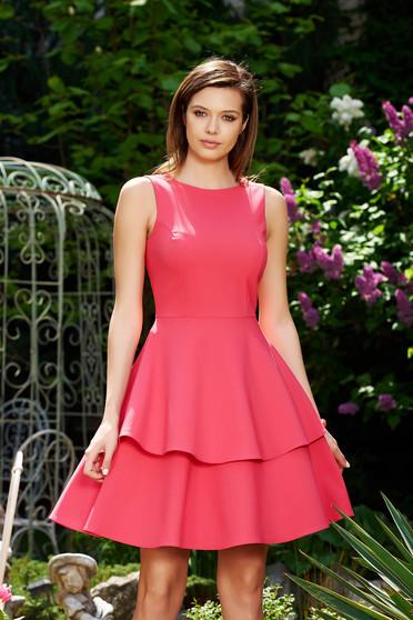 Pink StarShinerS elegáns harang ruha enyhén elasztikus szövet fodros