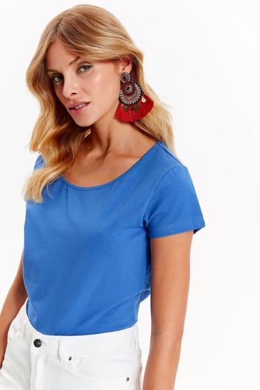Kék Top Secret casual bő szabású póló enyhén elasztikus pamut