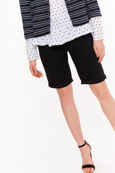 Fekete Top Secret pamutból készült rövidnadrág zsebes