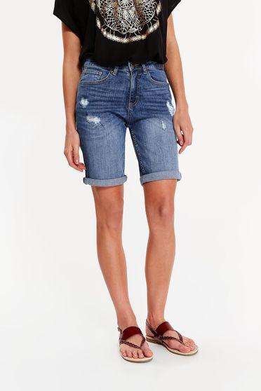 Kék Top Secret rövidnadrág casual pamutból készült zsebes