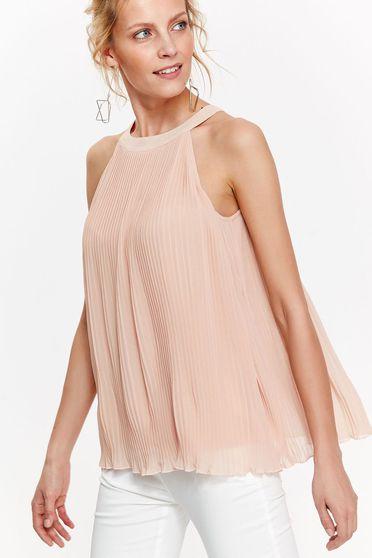 Rózsaszínű Top Secret női blúz elegáns fátyol anyag rakott bő szabás