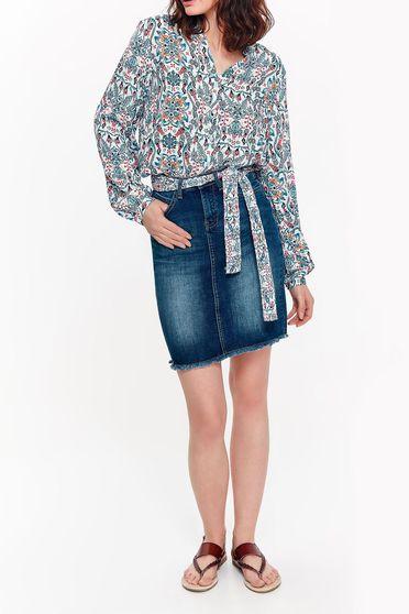 Kék Top Secret casual pamutból készült zsebes szoknya