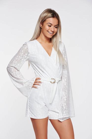 StarShinerS casual fehér overál rugalmas és finom anyag belső béléssel derékban rugalmas