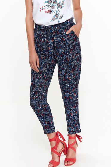 Kék Top Secret casual nadrág lenge anyagból derékban rugalmas zsebes