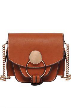 Barna Top Secret casual táska műbőr hosszú lánc típusú pánttal