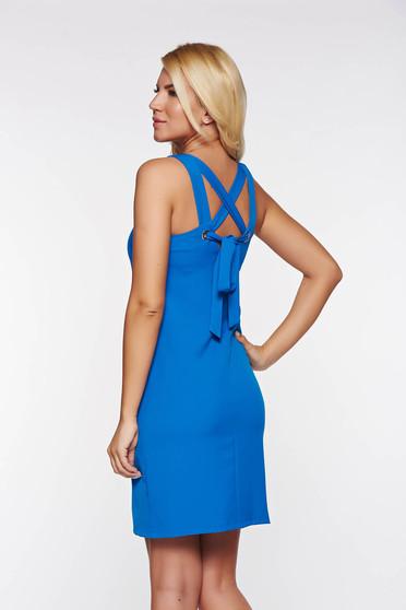 Kék Top Secret casual a-vonalú ruha enyhén elasztikus szövet belső béléssel