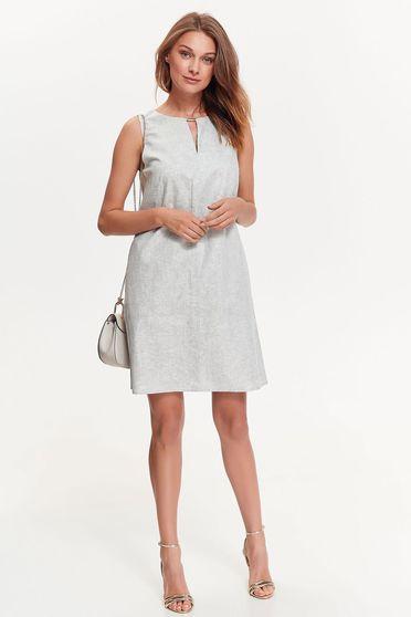 Szürke Top Secret ruha elegáns bő szabású nem rugalmas anyag ujj nélküli