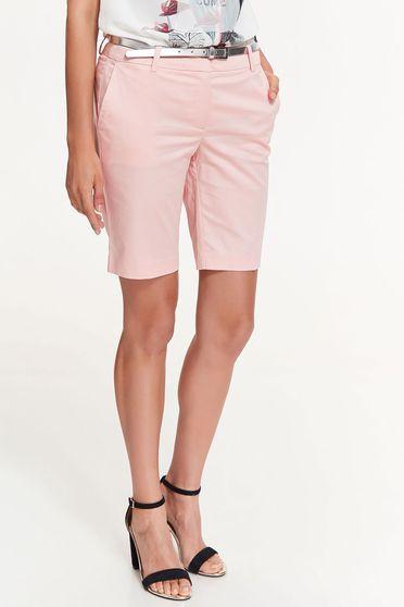 Rózsaszínű Top Secret rövidnadrág rugalmas pamut zsebes öv típusú kiegészítővel