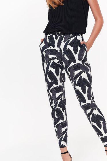 Fekete Top Secret nadrág casual kónikus pamutból készült zsebes