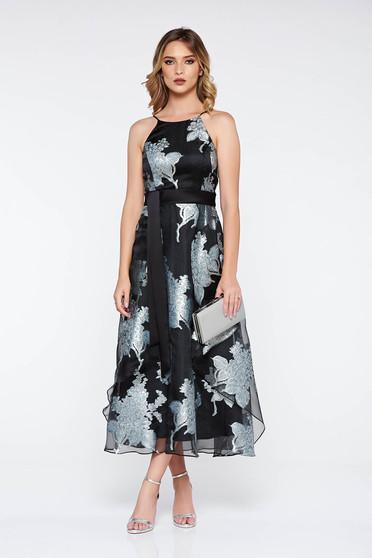 Alkalmi fekete harang ruha áttetsző anyag belső béléssel