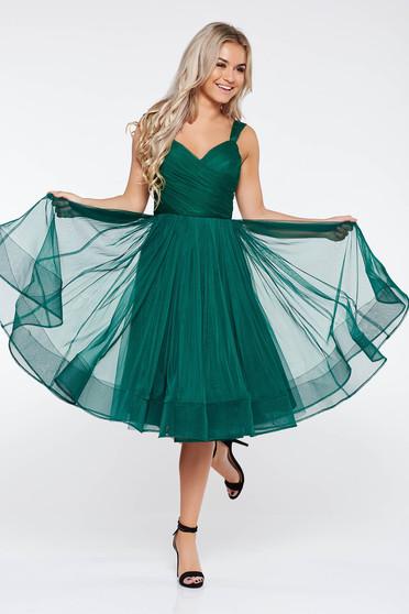 Zöld Ana Radu harang ruha szivacsos mellrész tüll belső béléssel