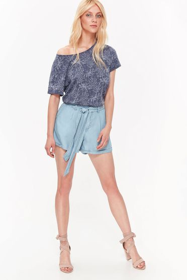 Kék Top Secret casual rövidnadrág nem rugalmas anyag övvel ellátva