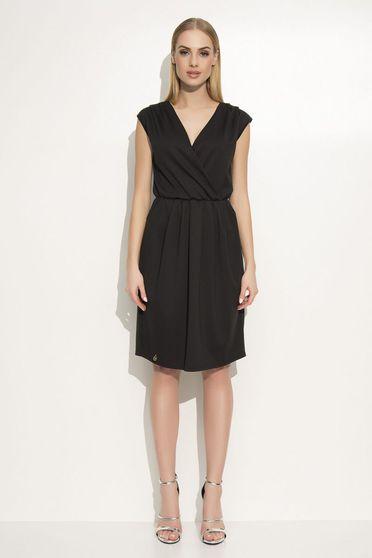 Fekete Makadamia ruha elegáns bő szabású derékban rugalmas lenge anyagból