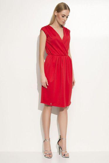 Piros Makadamia ruha elegáns bő szabású derékban rugalmas lenge anyagból