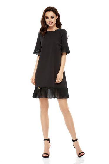 Fekete Lemoniade ruha elegáns bő szabású lenge anyagból harang ujjakkal