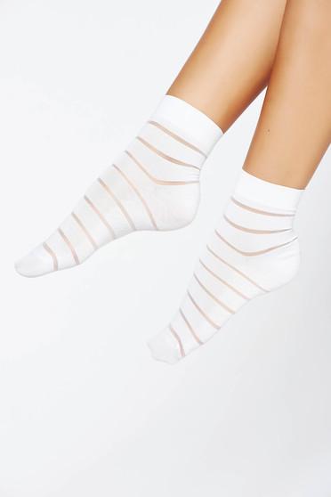 Fehér harisnyák & zoknik lekerekitett sarku harisnya rugalmas anyag