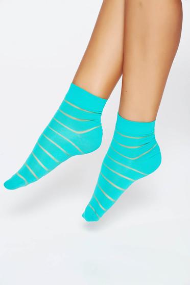 Türkiz harisnyák & zoknik lekerekitett sarku harisnya rugalmas anyag