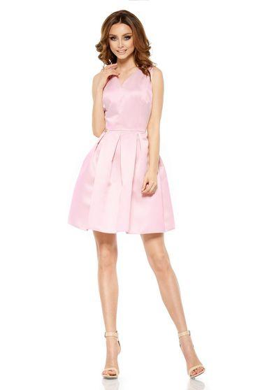 Rózsaszínű Lemoniade ruha alkalmi ujjatlan rövid szatén anyagból c616416a03