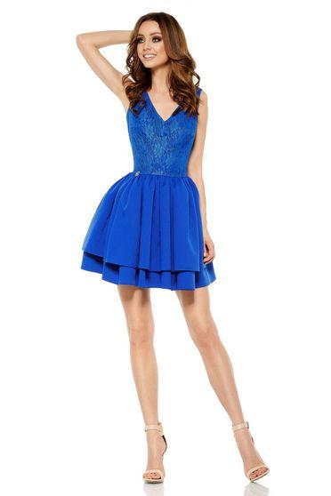 Kék Lemoniade elegáns ujjatlan rövid harang ruha 2151e372b0