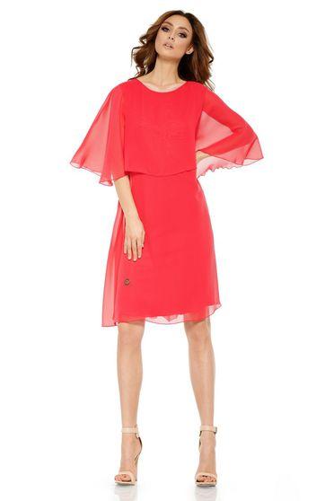 Korall Lemoniade elegáns bő szabású ruha fátyol belső béléssel 1efa7a0a93