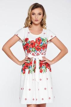 Piros hétköznapi harang ruha nem rugalmas anyag belső béléssel övvel ellátva